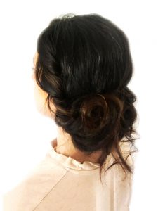 Romantic soft hair up at ftmakeup London