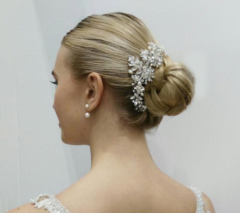 Simple bridal hair