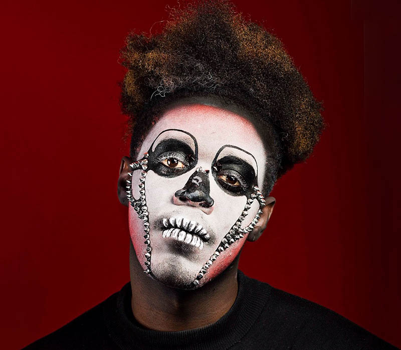 Skull halloween makeup 2018 at ftmakeup london 2