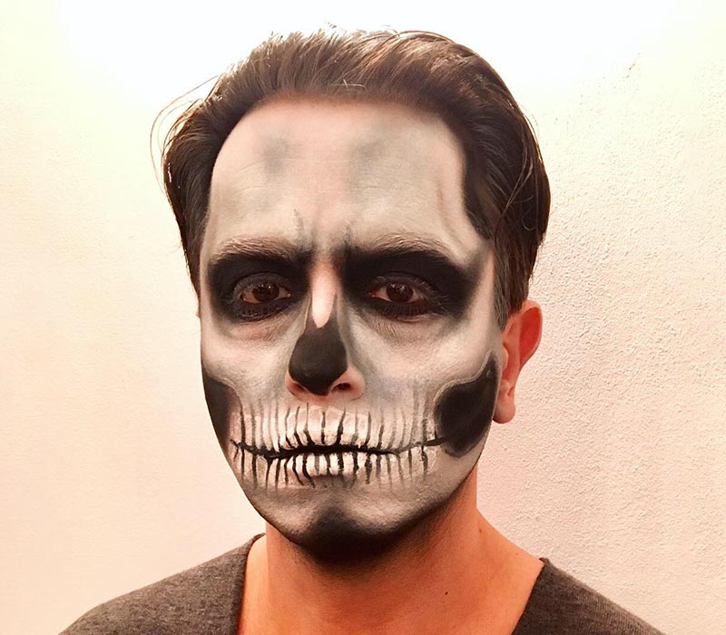 Skull halloween makeup 2018 at ftmakeup london
