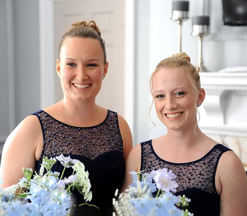 Steve and Lisa wedding bridesmaids makeup