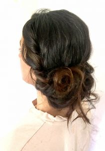 Vintage bridal hair up soft romantic style