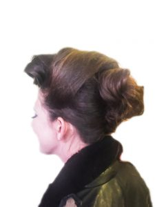 Vintage inspired creative up do