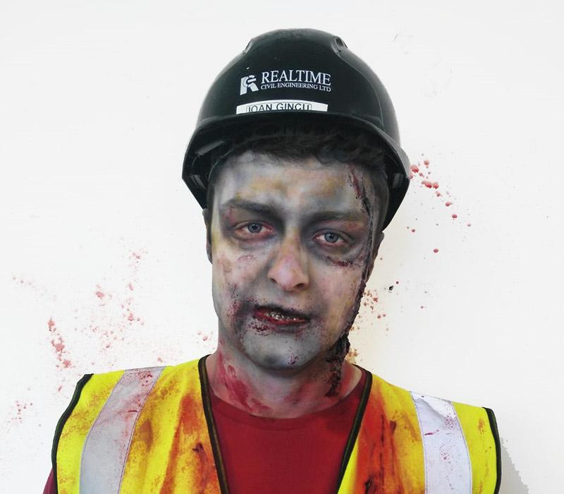Zombie makeup at ftmakeup london 2
