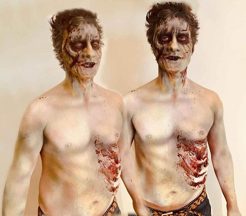 Zombie makeup at ftmakeup london halloween 2018