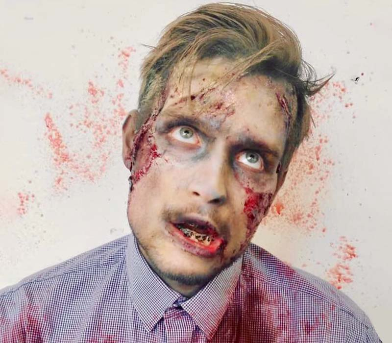 Zombie makeup at ftmakeup london