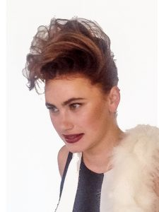 creative hair with 80s style quiff