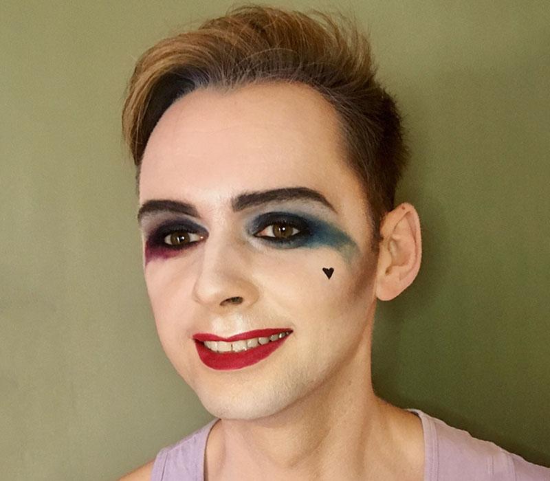 harley Quinn makeup halloween 2018