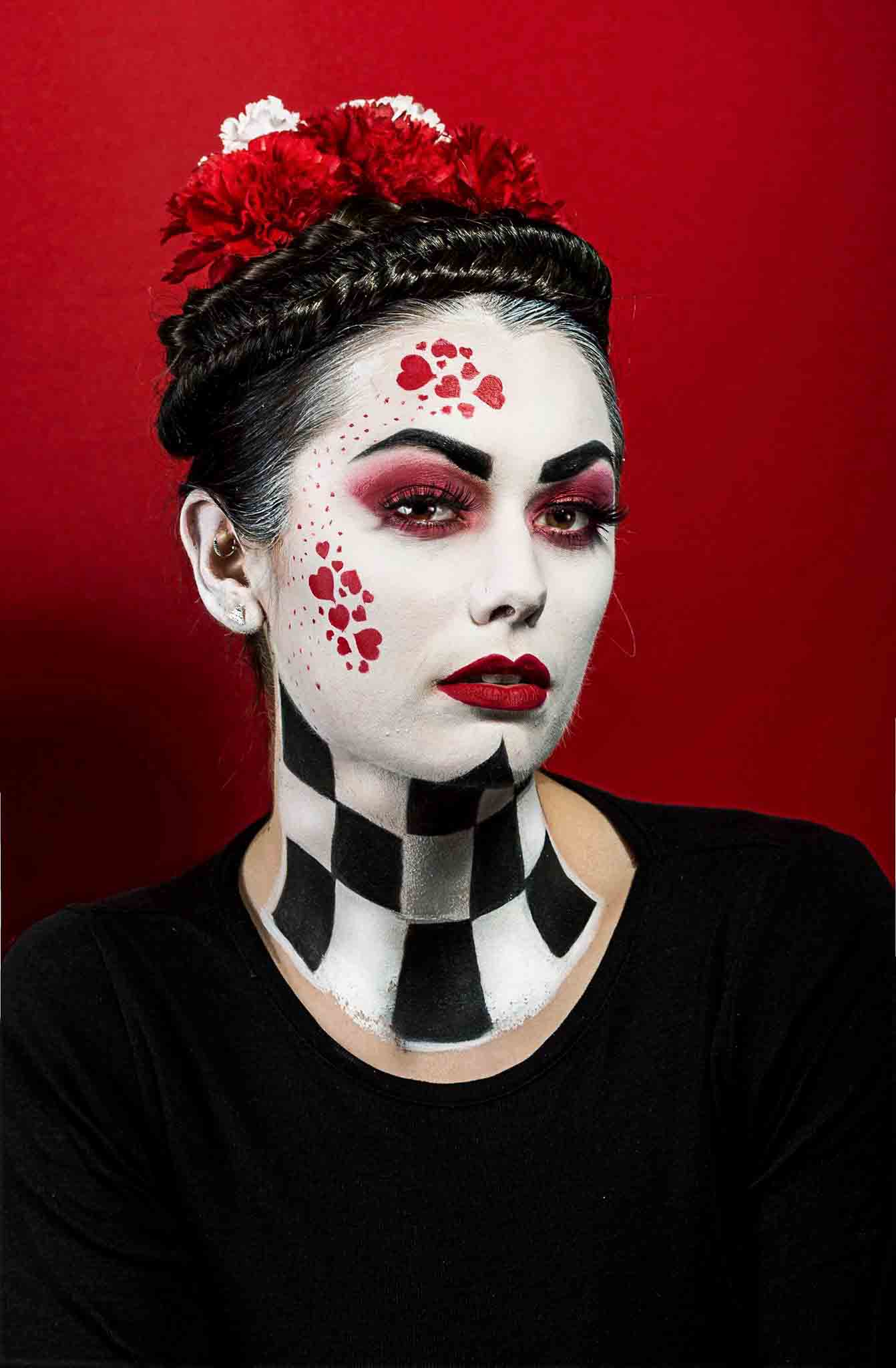 Conceptual art photography makeup and hair by Fanny Burgos
