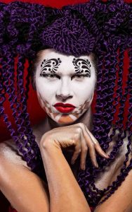 Harlequin Creative makeup look-conceptual art photography at FTphotography
