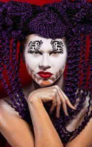Harlequin Creative makeup look-conceptual art photography at FTphotography