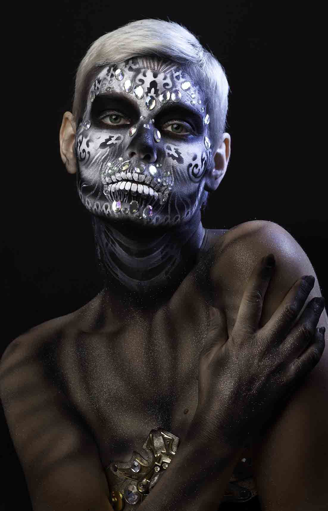 Michaela 15th October by halloween makeup artist london ft