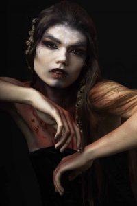 Nadia 31st by halloween makeup artist london ft