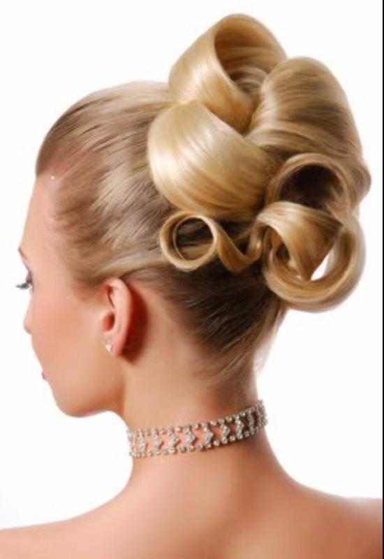 Hair and makeup artist london 60s updo FTanner
