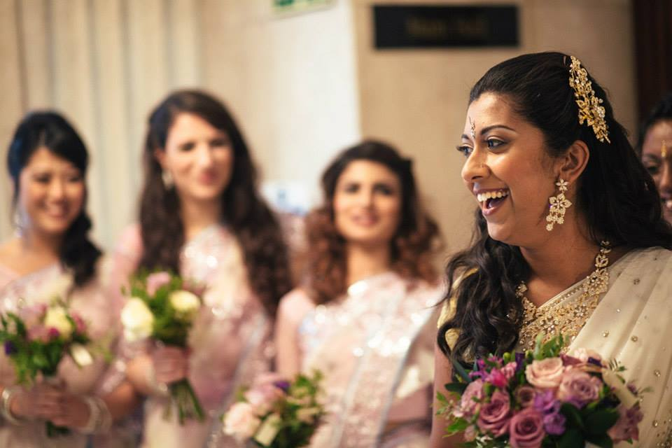 Bride by indian bridal makeup artist london based Fiona Tanner