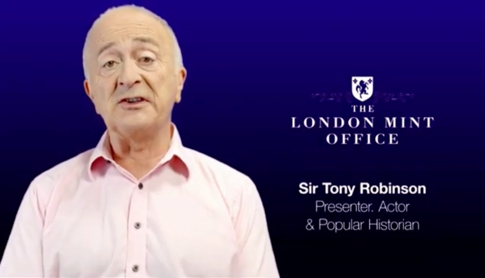 Celebrity makeup artist London Fiona Tanner for Sir Tony Robinson at the Royal Mint