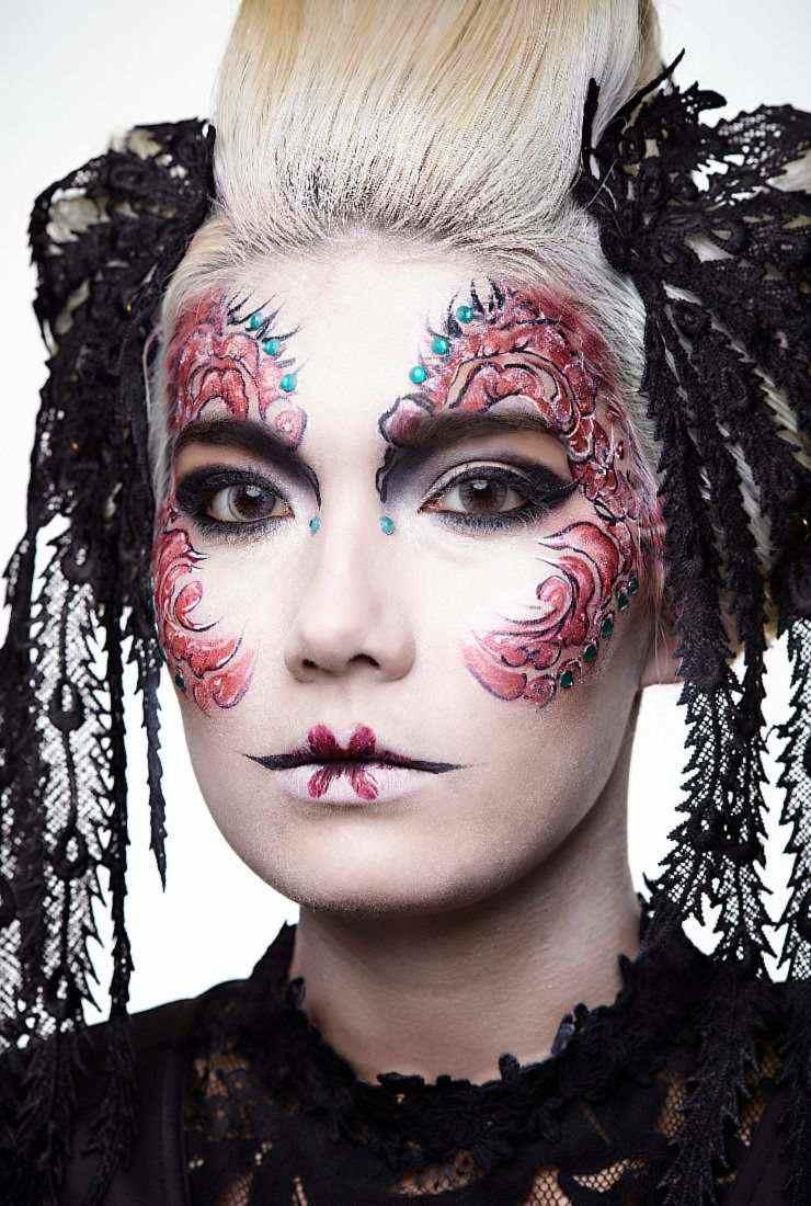 Geisha makeup & hair by FTMakeup London